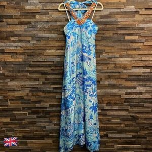 Lilly Pulitzer Claudie 100% Silk Maxi Dress